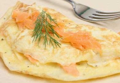 Omelette-saumon-fumé